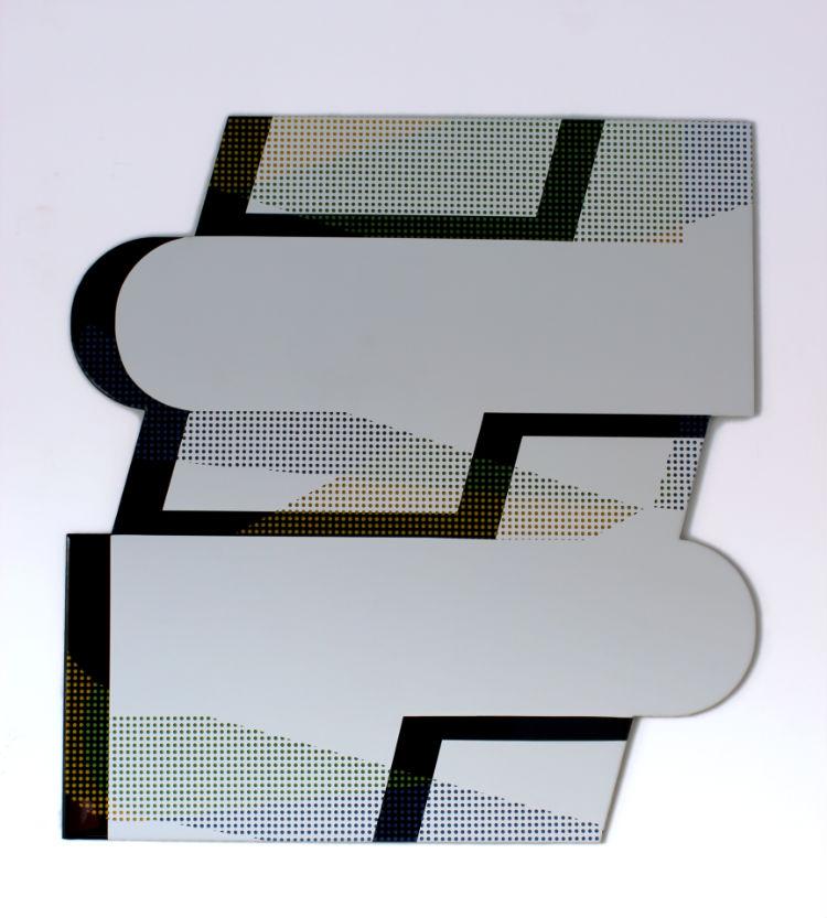 # 2 - 110 x 115 X 0,4 cm -lak en giethars op dibond - 2012