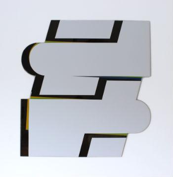 #1 - 110 x 115 X 0,4 cm - lak en giethars op dibond - 2012